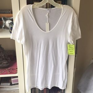 James Perse scoop neck cotton tee (New with tags)